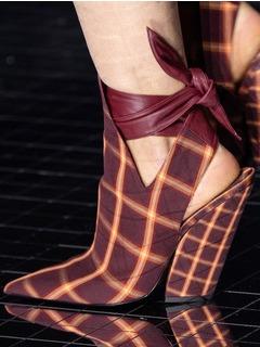 2020-21秋冬(AW)Burberry女鞋凉鞋T台